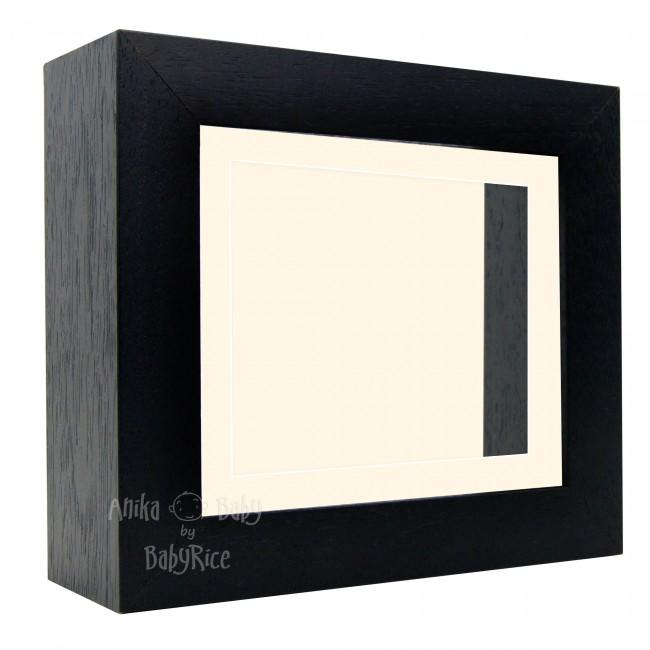 "Deluxe Black Deep Box Frame 6x5"" with Cream Mount and Backing"