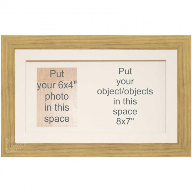 Large Medium Oak Effect 3D Shadow Box Display Frame Keepsakes Casts