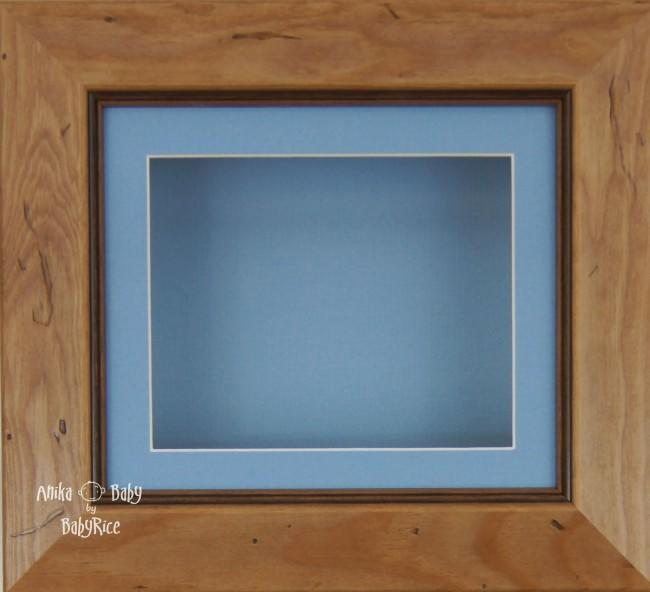 Rustic effect Small Display Frame / Blue mount & backing card