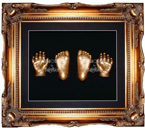 Baby Twins Casting Kit Rococo Swept Decorative Gold Frame Casts