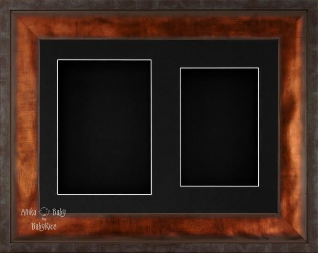"12x9"" Urban Bronze 3D Display Frame 2 Hole Black Mount Black Back"