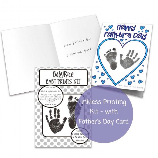 Make your own first Fathers Day Card from Baby