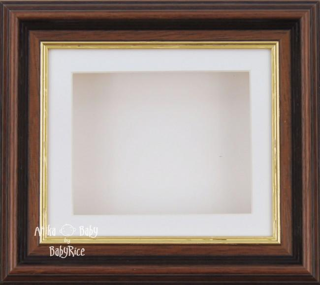 "6x5"" Mahogany/Gold Trim display frame / White mount & Backing"