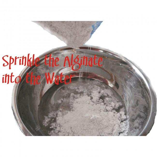 Sprinkle Alginate into Water