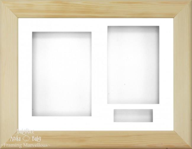 Natural Pine 3D Display Box Frame White