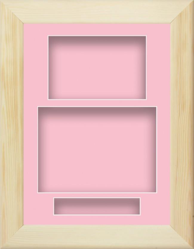 12x9 Natural Pine Wooden Box Display
