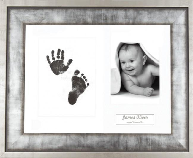 New Baby Gift Inkless Prints, Hand & Footprint Kit, Urban Metal Frame