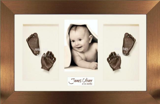 Large Baby Casting Kit / Bronze Photo Display Frame / Bronze paint