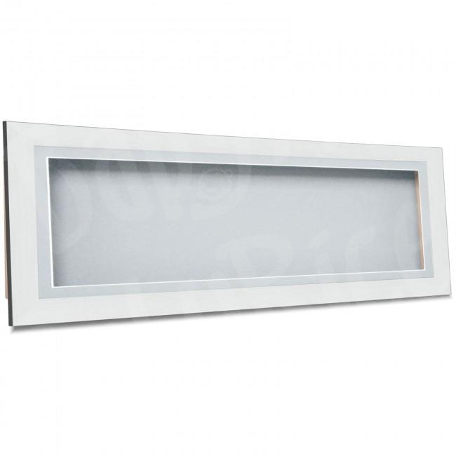 Large Box Frame in Silver, 60x20cm / 23.5x8 inches, Light Grey Inserts