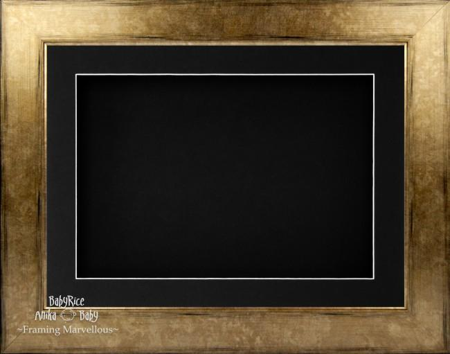 "11.5x8.5"" Bronze Brown 3D Deep Box Display Frame Black Mount"