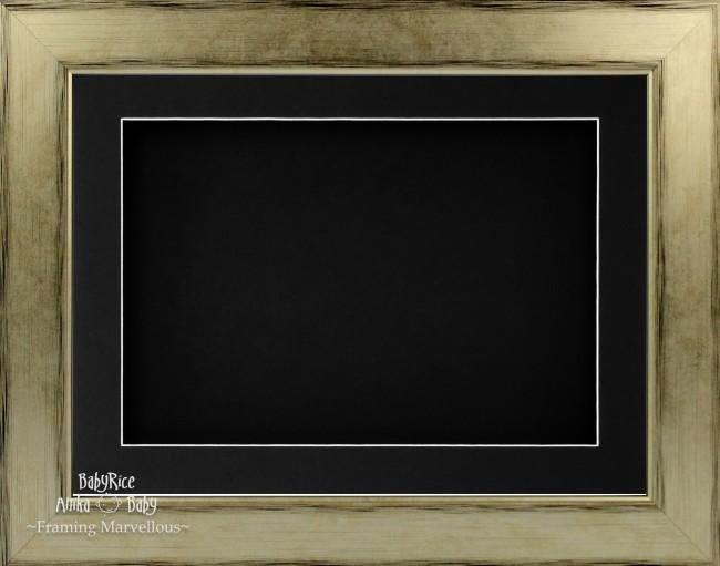 "11.5x8.5"" Champagne 3D Deep Box Display Frame Black Mount"