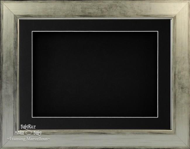 "11.5x8.5"" Silver Black 3D Deep Box Display Frame Black Mount"