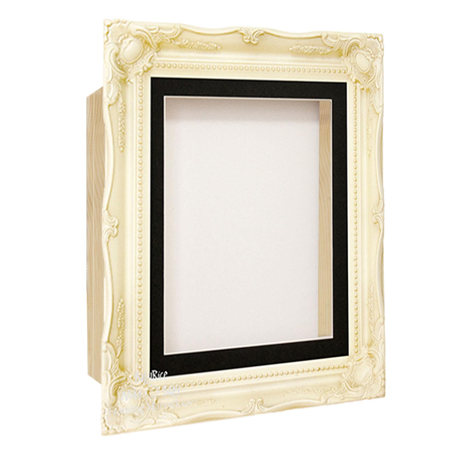 Cream Ornate Deep Box Display Frame