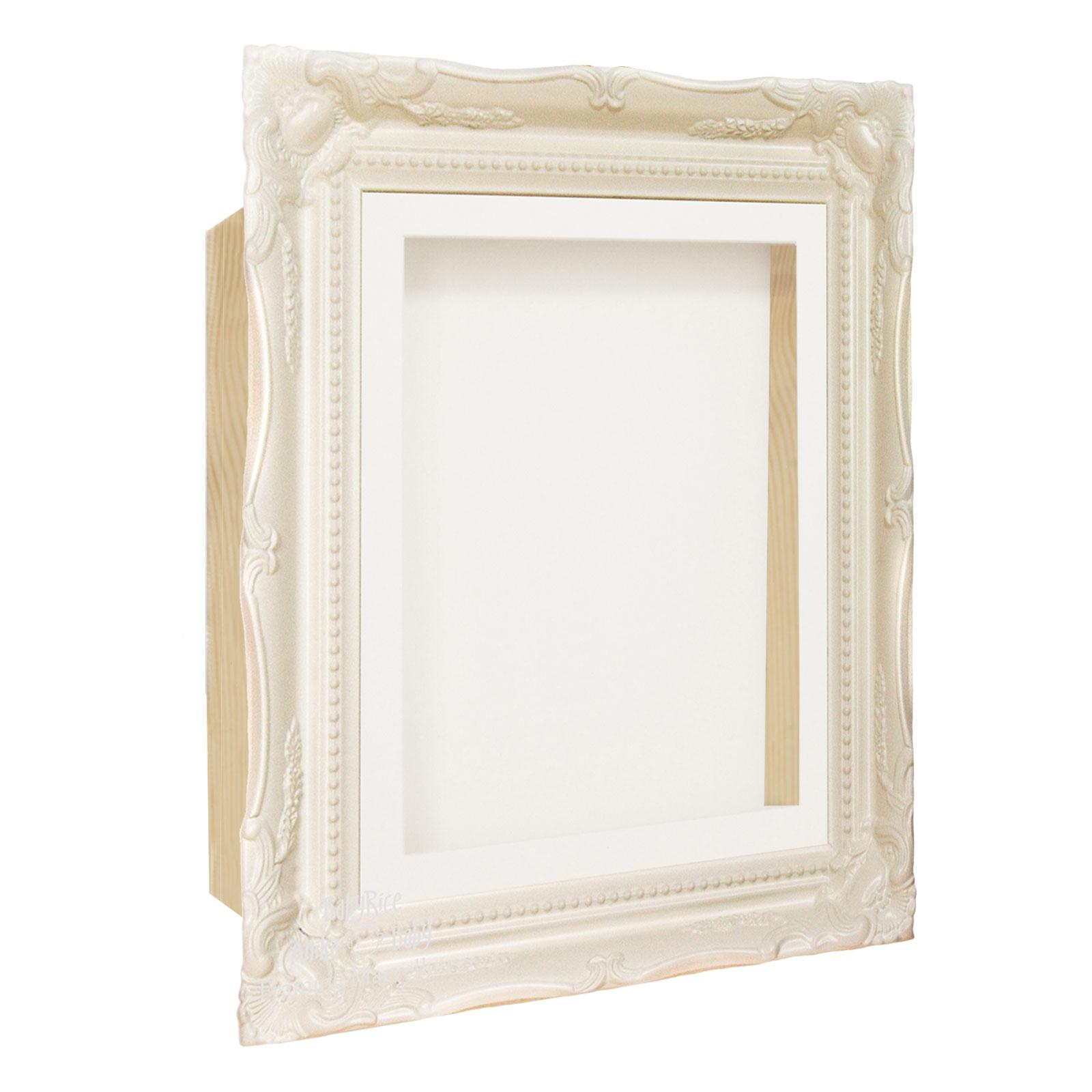 Ornate Rococo White Box Display Frame