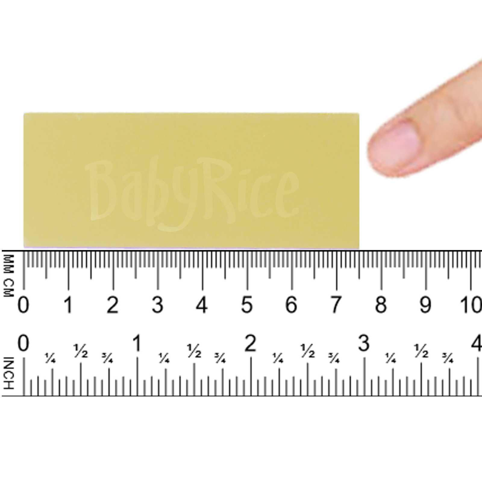 Gold Straight Edge Plaque 75x30mm