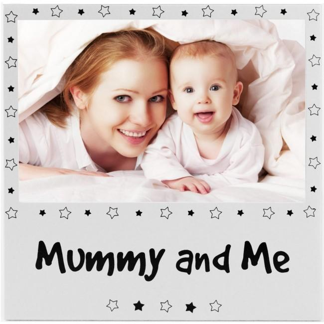 "Mummy and Me Photo Picture Frame Silver for 6x4"" Photograph"