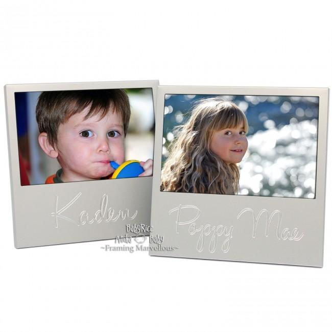 Personalised Naming Frame Any Name Silver Photo Picture Display