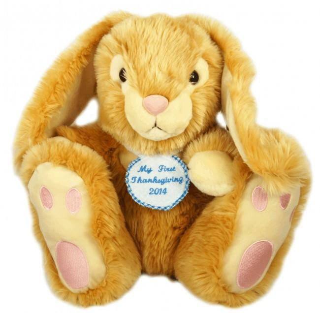 Personalised Blue Felt Badge Honey Rabbit 35cm