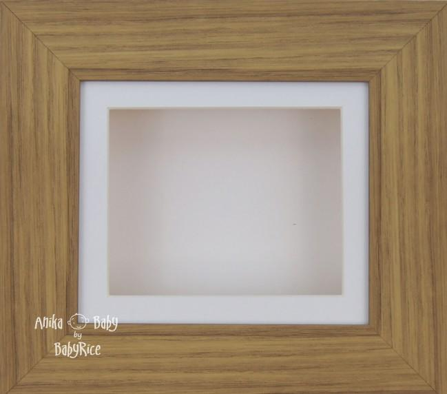 Oak effect Small Display Frame / White mount & backing card