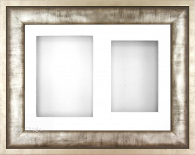 "12x9"" Urban Metal 3D Display Frame 2 Hole White Mount White Back"