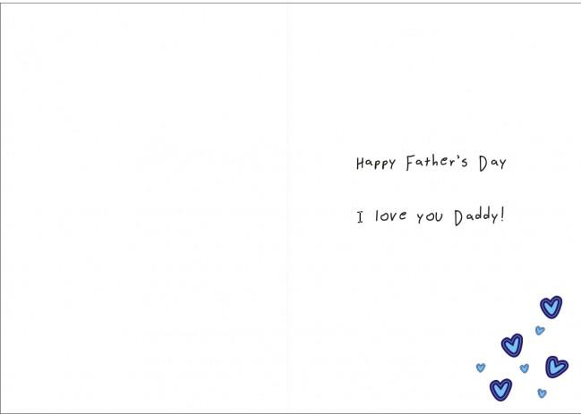 Inside of the Fathers Day Card