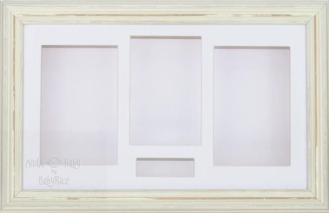 Large Shabby Chic Cream 3D Shadow Box Display Frame / White
