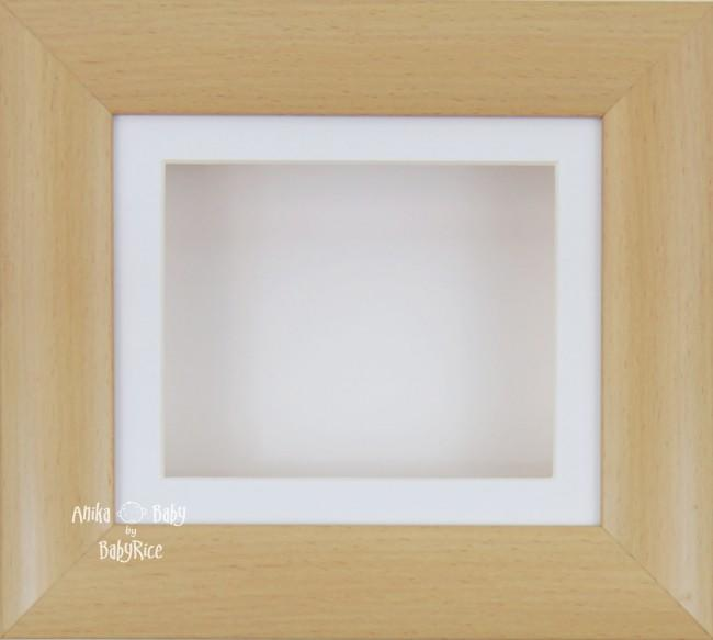 "6x5"" Beech Effect display frame / White mount & Backing"
