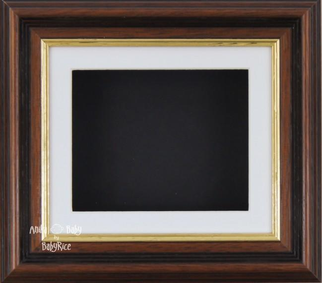 "6x5"" Mahogany/Gold Trim display frame / White mount & Black Backing"