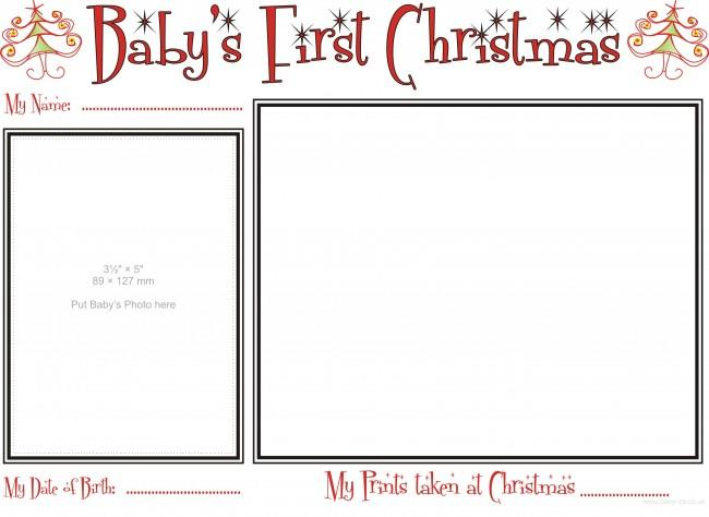 How to fill in Babys details for First Christmas Prints Kit
