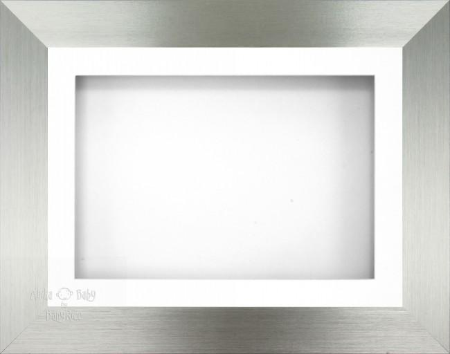 "11.5x8.5"" Pewter effect display Frame White Sgl"