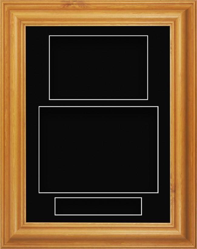 11.5x8.5 Honey Pine Wood Deep Box Display Frame Black Portrait