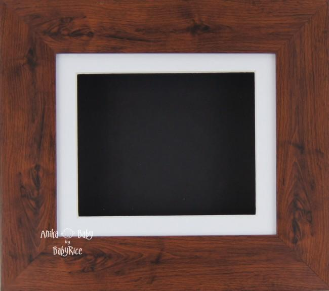 "6x5"" Mahogany display frame / White mount & Black Backing"