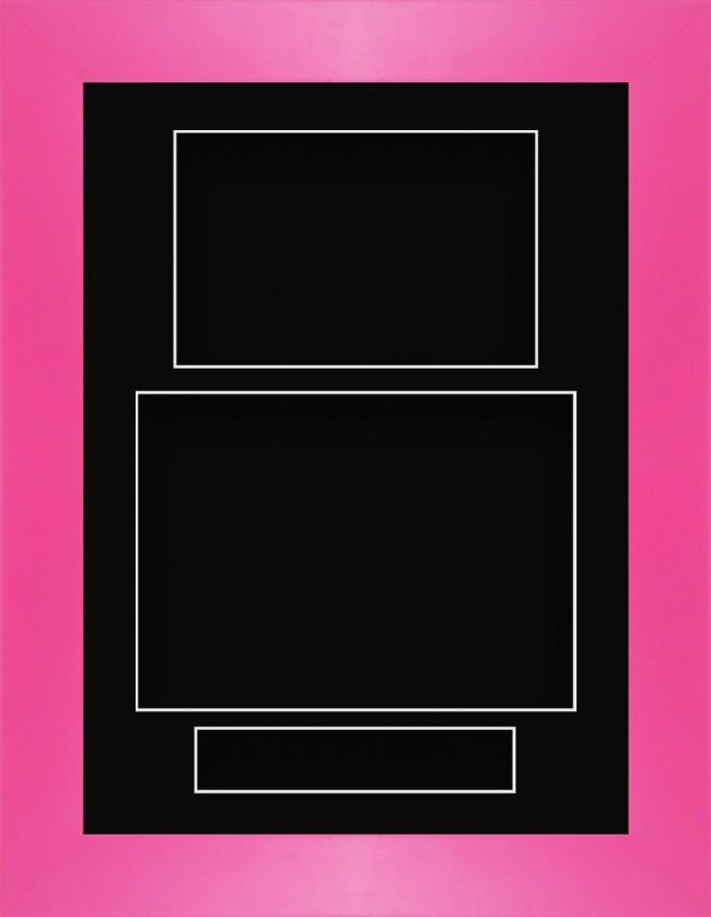 11.5x8.5 Pink Deep Box Display Frame Black Portrait