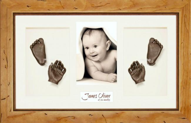 Large or Twins Baby Casting Kit / Rustic Pine Frame / Bronze Paint