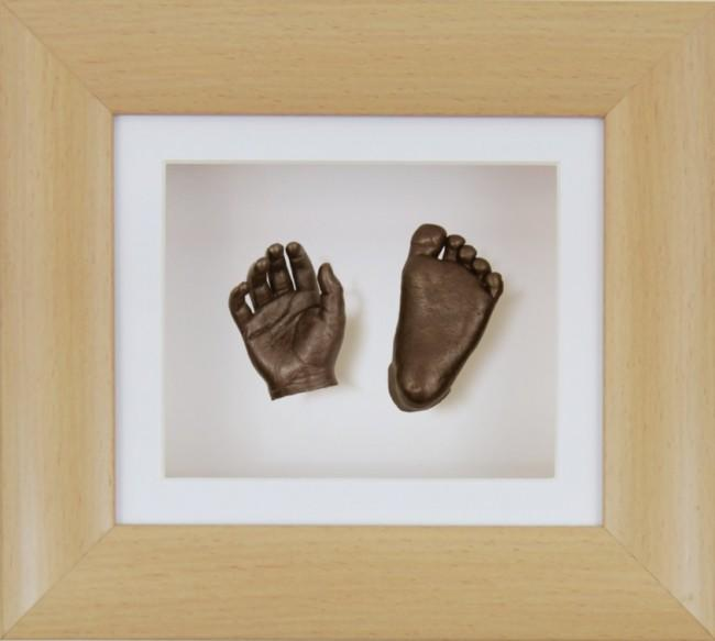 Baby Casting Kit Beech Effect Frame White Bronze paint