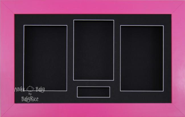 Large Pink 3D Box Display Frame / Black