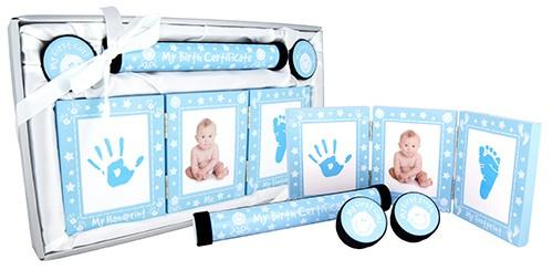 Baby Keepsake 4 Piece Gift Set - Blue and White