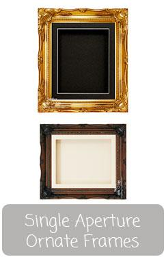 Ornate Box Frame with Single Display