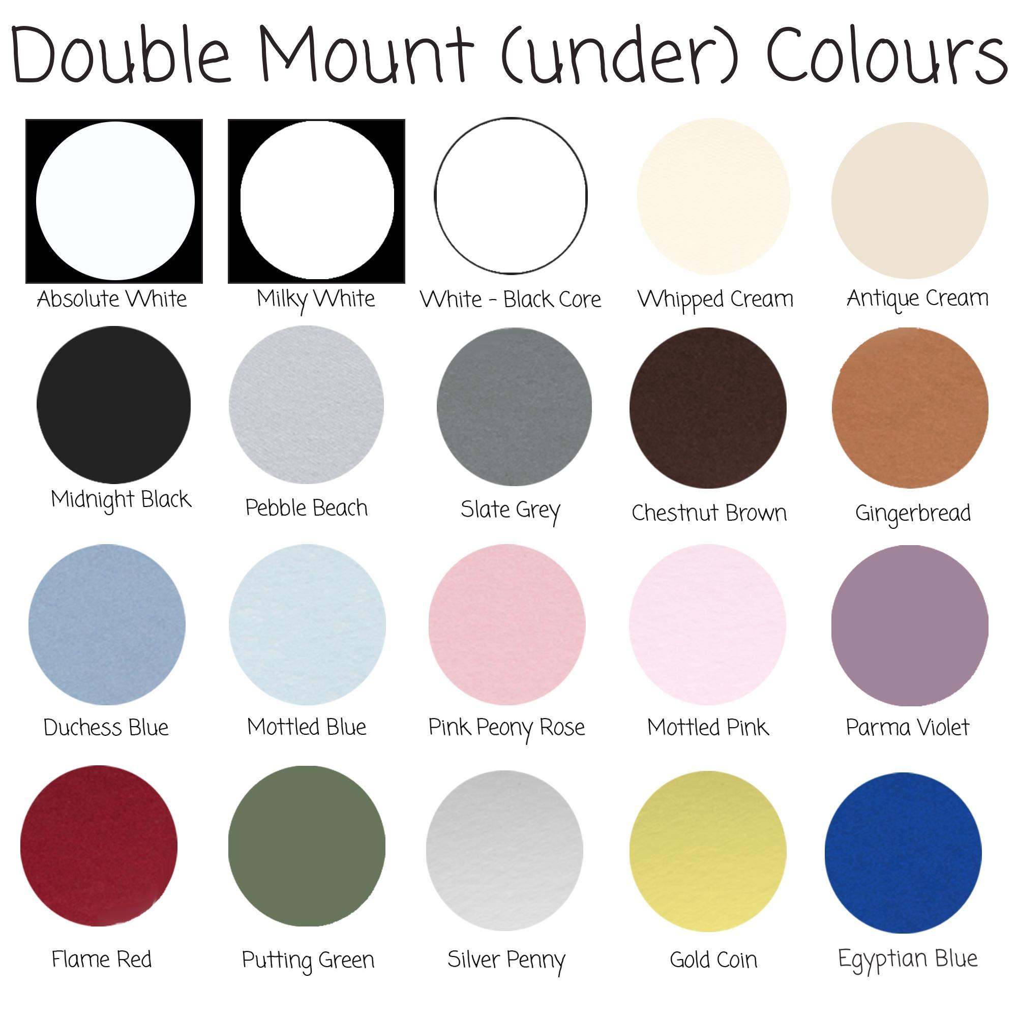Double Mount Colours