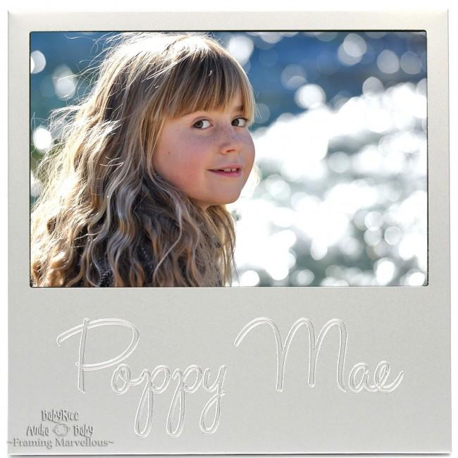 Personalised Custom Silver Frame Any Name of your Choice