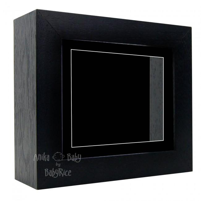 "Deluxe Black Deep Box Frame 6x5"" with Black Mount and Backing"