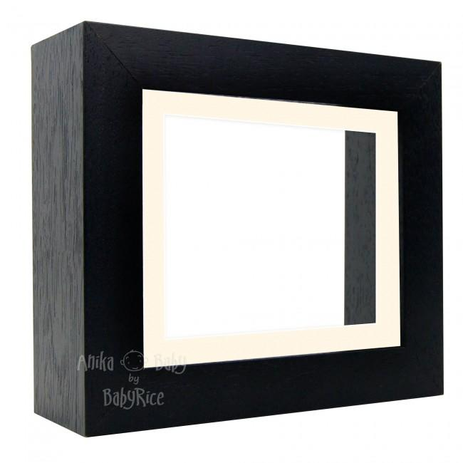 "Deluxe Black Deep Box Frame 6x5"" with Cream Mount and White Backing"