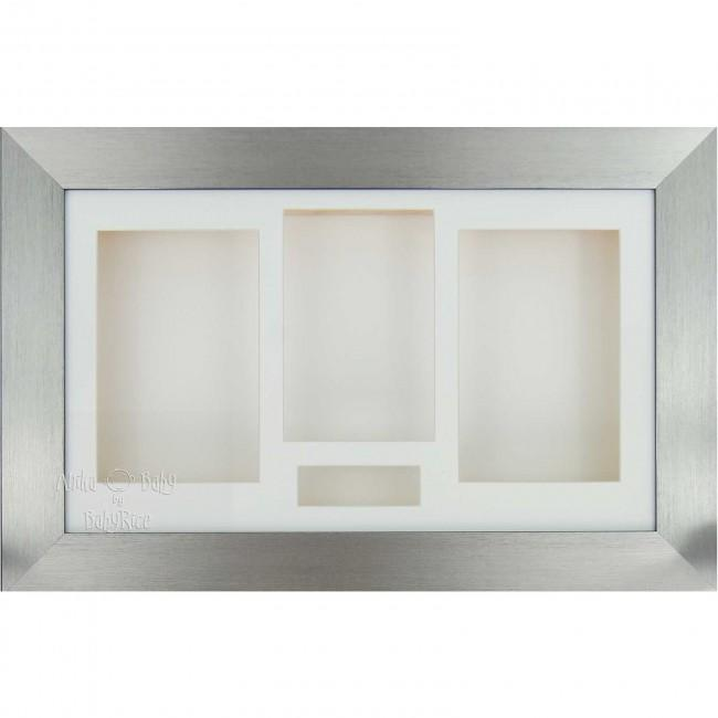 "15x9"" Pewter 3D Box Display Frame / White"