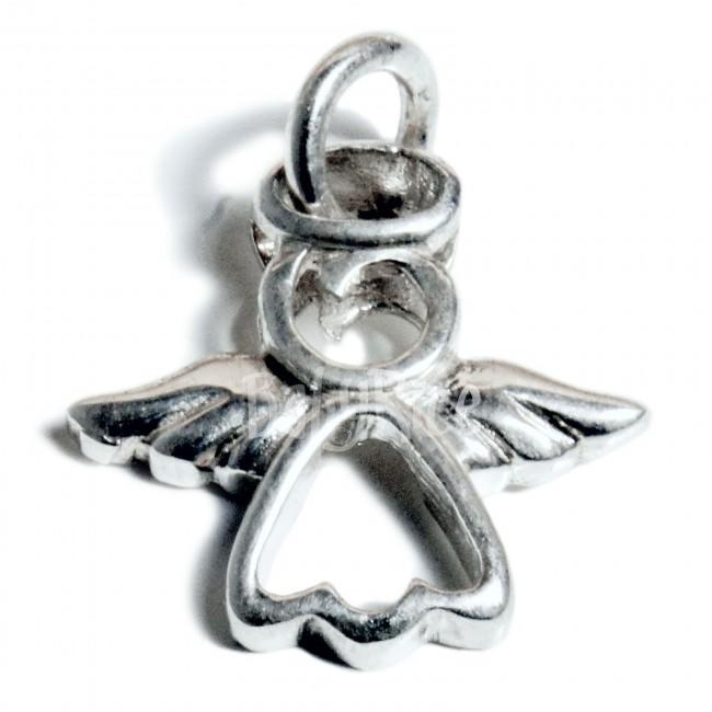 Sterling Silver Angel Charm on Jumpring
