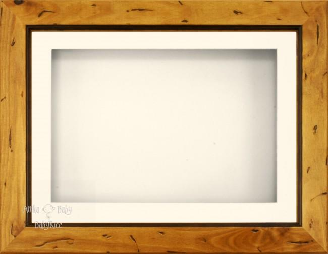 Rustic Pine Display Frame Cream single hole mount - BabyRice