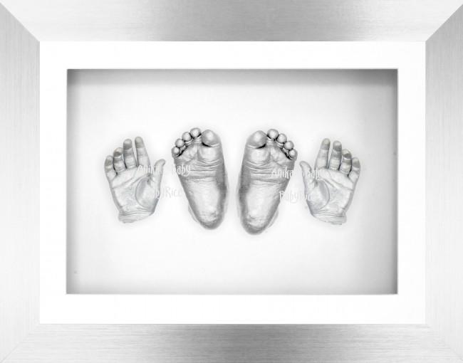 Silver Frame Baby Casting Kit 3D Hands & Feet Casts