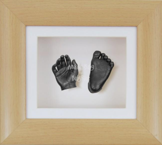 Baby Casting Kit Beech Effect Frame White Display Pewter paint