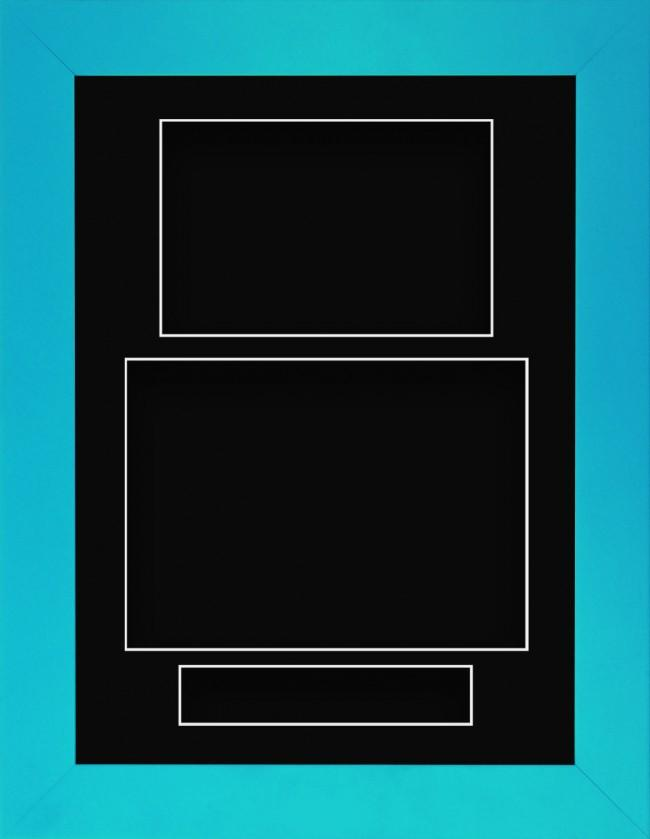 11.5x8.5 Blue Deep Box Display Frame Black Portrait