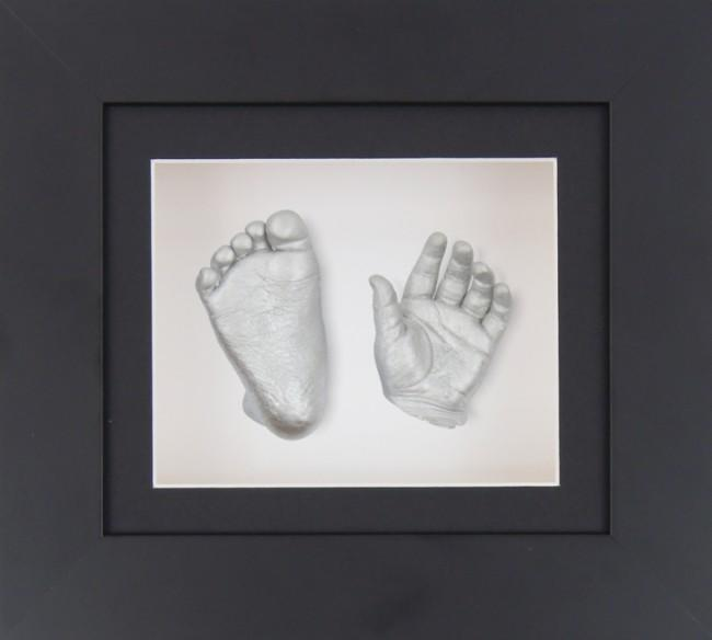 Baby Casting Kit Black Frame Black White Display Silver paint