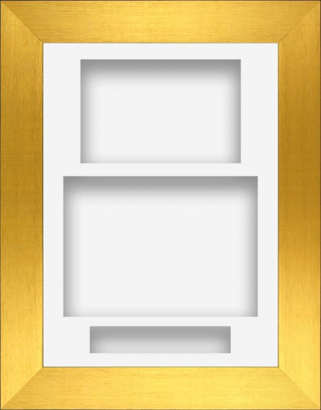 11.5x8.5 Gold Deep Box Display Frame White Portrait